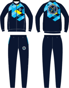 Run Zone Funky Pro Slimfit Tracksuit M/F (Front & Back)
