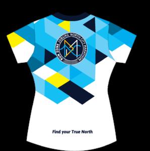 Run Zone Funky Golf Shirts F (Back)
